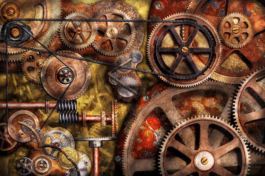 steampunk gears inner workings mike savad okizu