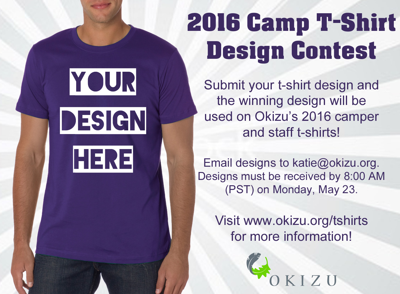Winning T Shirt Designs | 2016 Camp T Shirt Design Contest Okizu